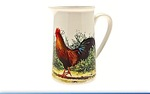Leonardo LP91393 Cockerel and Hen Jug Large  7.4 inches