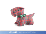 Leonardo LP24648 Red Tartan SCOTTIE Doorstop