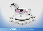 Leonardo LP16224 ROCKING HORSE (Pink) Ornament