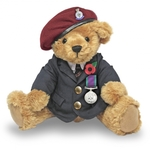 The Great British Teddy Bear - Veteran Bear RED Beret