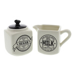 59112 Juliana Home Living Typography Milk Jar & Sugar Pot