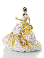The English Ladies Congratulations Gold Figurine