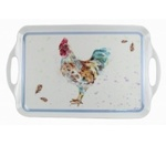 LP91968 COUNTRY COCKEREL TRAY XL