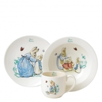 A25864 Peter Rabbit 3-piece Nursery Set Border Fine Arts Enesco