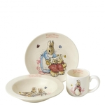 A26699  Flopsy, Mopsy & Cotton-tail Three-Piece Nursery Set Border Fine Arts Enesco