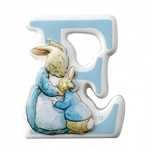 A27235 `E` Mrs Rabbit & Peter Border Fine Arts Enesco