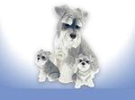 Leonardo LP26880 Schnauzer With Puppies Mother With Two Puppies