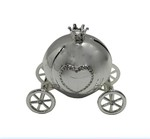 LP28631 Diamante Carriage Money Box Silver Plated
