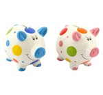 LP28335 Piggy Money Box Polkadot (Blue)