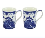 LP92367 Blue Willow Mug Set of 2