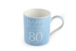 Leonardo LP33235 Happy Birthday YOU'RE 80 CHINA MUG