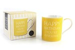 Leonardo LP33236 Happy Birthday YOU'RE AWESOME CHINA MUG