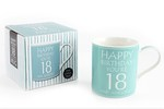 Leonardo LP33228 Happy Birthday YOU'RE 18 CHINA MUG