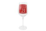 Leonardo LP33264 HAPPY BIRTHDAY You're 21 Wine Glass