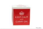 Leonardo LP32930 KEEP CALM & CARRY ON Money Box RED