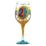 Lolita GLS11-5010C 21st Birthday Wine Glass