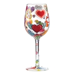 Lolita GLS11-5523B  Heart-rageous Wine Glass
