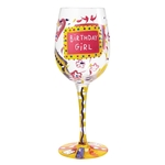 Lolita GLS11-5530R Birthday Girl Wine Glass