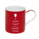 LP98955 KEEP CALM & DRINK WINE CHINA MUG GIFT BOXED