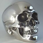 Silver Art Skull Money Box Large LP29031 - Leonardo