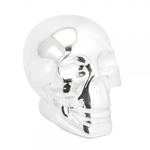 Silver Art Skull Money Box Small LP29030 - Leonardo