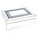 Royal Crest Mirror Smoke Jewellery Box LP28542 - Leonardo