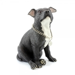 Staffy Bull Terrier Black Large Ornament LP28074 - Leonardo
