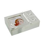 Silver Plated Baby Keepsake Box with 1st Tooth & Curl CG1267 - Impressions by Juliana