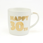 'Happy 30th Birthday' Mug In Gold Script Font LP33685 - Leonardo