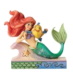 Fun & Friends - Ariel With Flounder 4054274 Disney Traditions Collectible