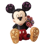 Mickey Mouse with Flowers Mini Figurine 4054284