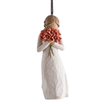 27274 Surrounded By Love Hanging Ornament - Willow Tree