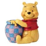 4054289 Winnie The Pooh With Honey Pot Mini Figurine - Disney Traditions
