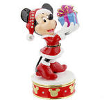 Christmas Minnie Mouse Enamel Trinket Box