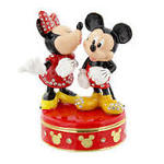 Mickey& Minnie Mouse Enamel Trinket Box