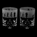 Whisky Glass Tumbler with Evolution Bagpiper