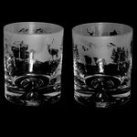 Whisky Glass Tumbler with Scottish Scene