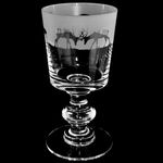 Glass Goblet Chalice with Stag Design