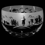 Medium Glass Bowl with Scottish Scene