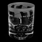 Whisky Glass Tumbler with Highland Cattle