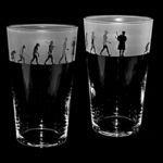 Conical Pint Glass with Evolution Bagpiper Design