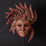 EDGE Sculpture - Venetian Red, Venetian Carnival Mask