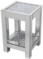 DIAMOND CRUSH SPARKLE CRYSTAL MIRRORED LAMP/ SIDE TABLE LARGE £225