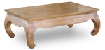 LARGE OPIUM TABLE INDIAN SHEESHAM WOOD FURNITURE- COLLECT IN STORE