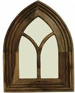 ARCH MIRROR SMALL INDIAN SHEESHAM WOOD FURNITURE- COLLECT IN STORE