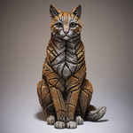 EDGE Sculpture - Sitting Ginger Cat