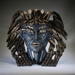 Cleopatra Bust 'Egyptian Blue' - Edge Sculpture