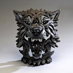 EDGE Sculpture - Wolf Bust in Timber