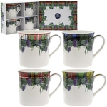 Tartan Mugs with Thistles Set of 4 LP93266 - The Leonardo Collection