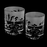 Whisky Glass Tumbler with Evolution Drinker